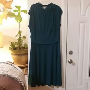 Teal stretch dress 2X